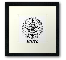 Nerds, geeks and dorks UNITE! Framed Print