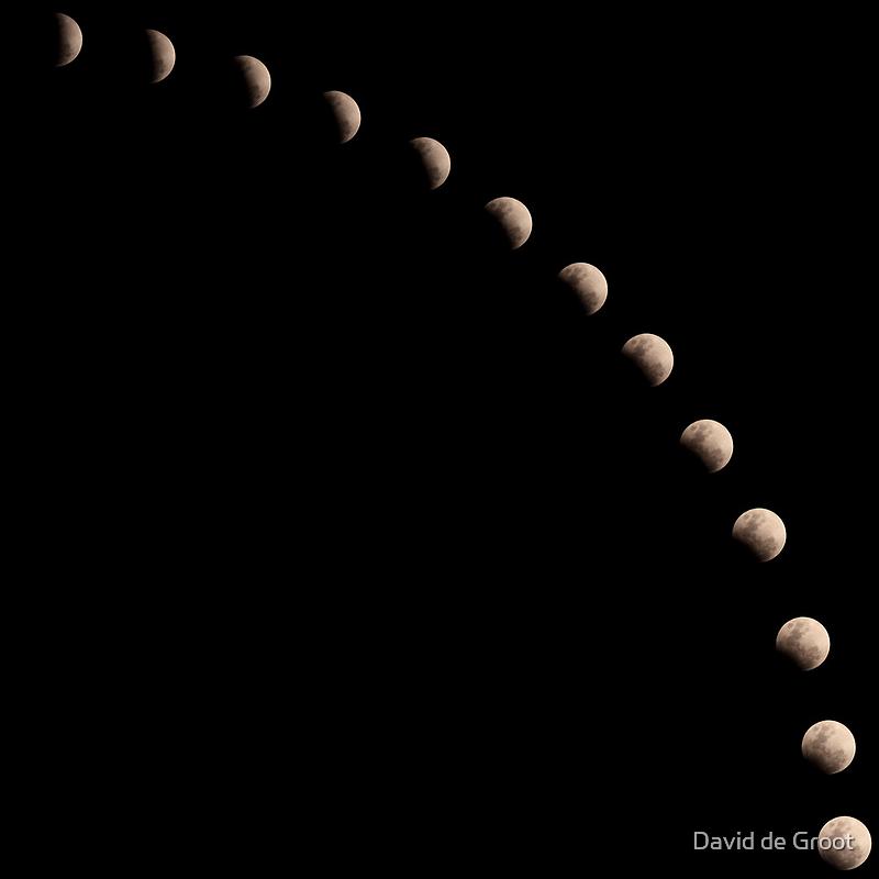 Partial Lunar Eclipse by David de Groot