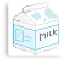 Pixel Milk Canvas Print