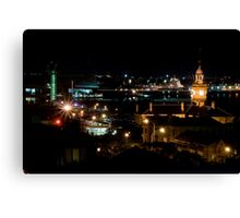 Newcastle City By Night Canvas Print