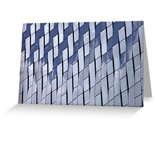 Blue Weave Greeting Card