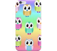 Colourful owls iPhone Case/Skin