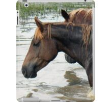 """""""Horses with Attitude no. 7, 'Race Ya Across the Pond, Joe. Loser Buys a Round!'""""... prints and products iPad Case/Skin"""