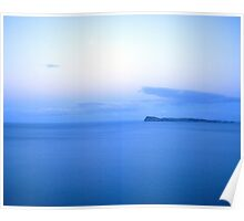 Blue Cloud Mirrored Over Slipper Island Poster