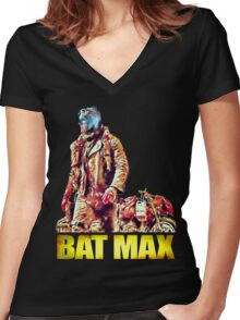 BAT MAX - Justice Road Women's Fitted V-Neck T-Shirt