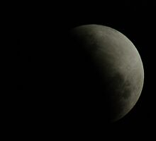 Partial eclipse of the moon, 26-6-10, 8:25pm by BigAndRed