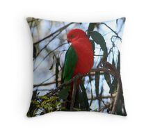Male King Parrot Throw Pillow