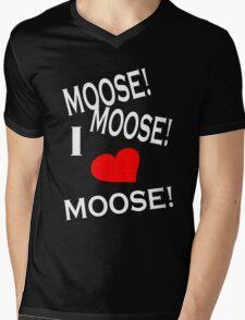 I Love Moose T-Shirt Mens V-Neck T-Shirt