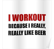 Workout Beer Poster