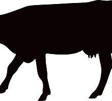 Cow silhouette - side view by Mhea
