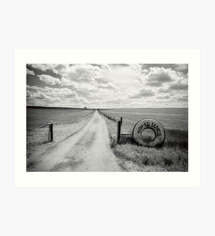 Mallee Farm Track, South Australia Art Print