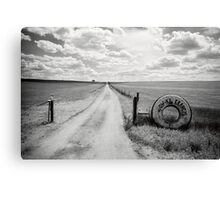 Mallee Farm Track, South Australia Canvas Print