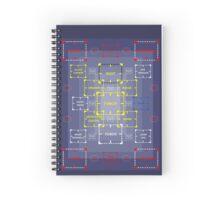 The Machine in Progress version 1 sticker alternative 2 Spiral Notebook