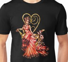 Queen of Hearts with White Rabbit Drawing Unisex T-Shirt
