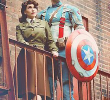 Tanya Wheelock as Peggy Carter and Michael Mulligan as Captain America (5.1 - Photography by Misty Autumn Imagery, with Additional Editing by Tascha Dearing) by mostdecentthing