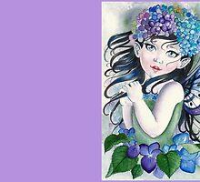Baby hydrangea fairy faerie fantasy by Gabriella  Szabo