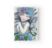 Baby hydrangea fairy faerie fantasy Hardcover Journal