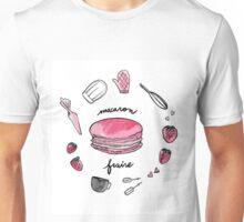 Fraise macaron print Unisex T-Shirt