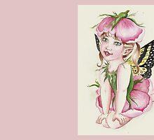 Baby rose fairy faerie fantasy by Gabriella  Szabo