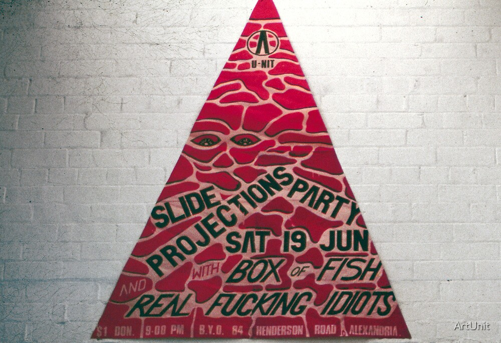 Slide Projection party with Box of Fish and the Real Fucking Idiots by ArtUnit