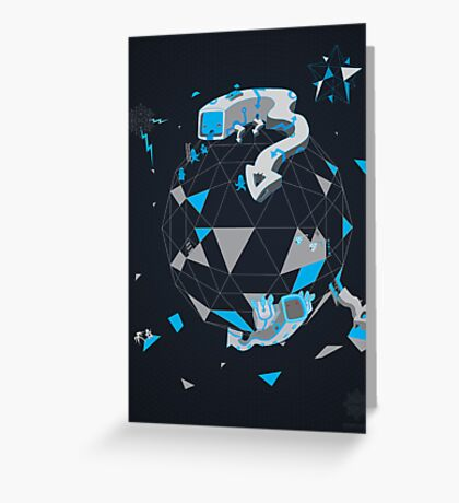 Oblique Technique Art V1.0 Greeting Card