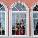 Three windows of a little Hindu temple by henuly1