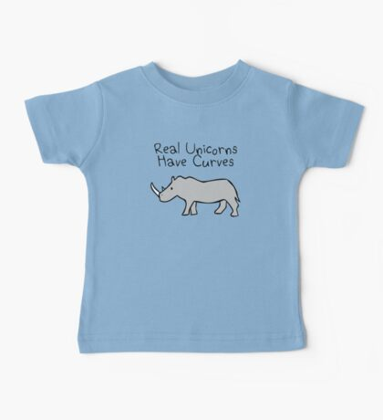 Real Unicorns Have Curves Baby Tee