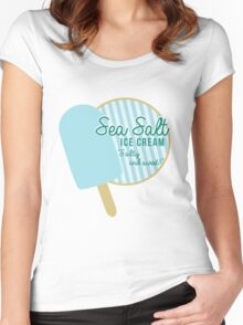 Sea Salt Ice Cream Women's Fitted Scoop T-Shirt