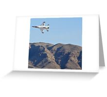 USAF Thunderbirds Solo Greeting Card