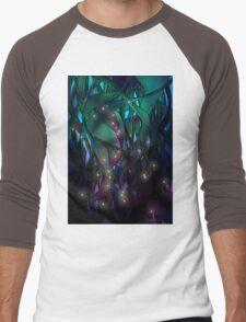Nocturne (with Fireflies) Men's Baseball ¾ T-Shirt