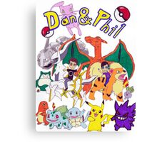 Pokemon Dan and Phil Canvas Print
