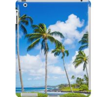Palm trees by the ocean  iPad Case/Skin