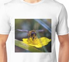 Photo of a Hoverflie on autumn hawkbit Unisex T-Shirt