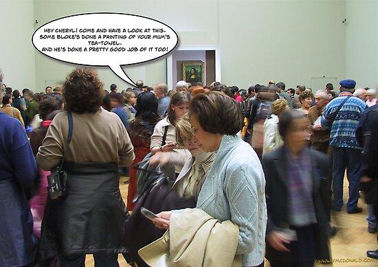 Cheryl Meets Mona Lisa by Frank  McDonald