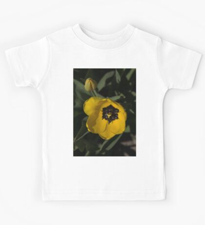 Sunny Yellow in the Shadows - a Cheerful Spring Tulip Kids Tee