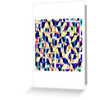 Round and square tiles Greeting Card