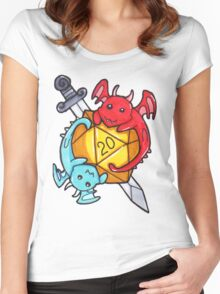 Dice Dragons Women's Fitted Scoop T-Shirt