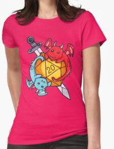 Dice Dragons Womens Fitted T-Shirt