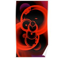 Funky Red Bubbles Poster