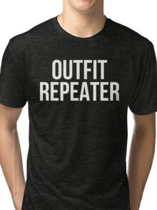 Outfit Repeater (White) Tri-blend T-Shirt