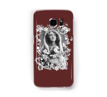 Vintage ~Praying Lady~ white framed Samsung Galaxy Case/Skin