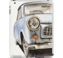 Old Blue Car Watercolor iPad Case/Skin