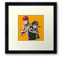 Terrorist <3 Counter-Terrorist Framed Print