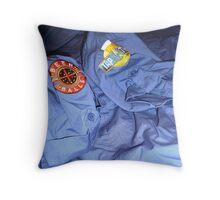 Brewery Blu uni....! Beer & Balls! Throw Pillow