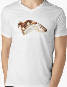 Barn Owl Wing Mens V-Neck T-Shirt