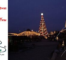 Christmas Holiday Card - LIDO's First Tree - Riga Latvia by FirstTree