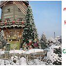 Christmas Holiday Card 5540 - Santa's Grain Mill LIDO Riga Latvia by FirstTree