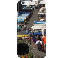 Boats at Riomaggiore iPhone Case/Skin
