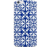 Moroccan tile - cobalt blue iPhone Case/Skin
