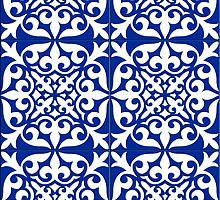 Moroccan tile - cobalt blue by Marymarice